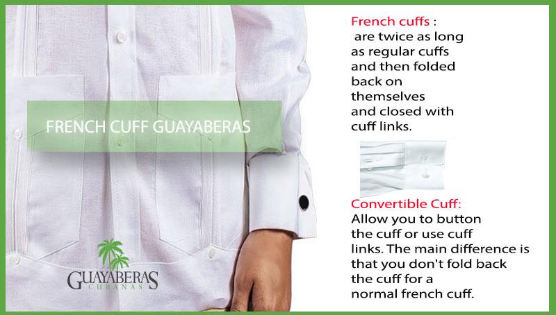 French Cuff Linen Guayabera