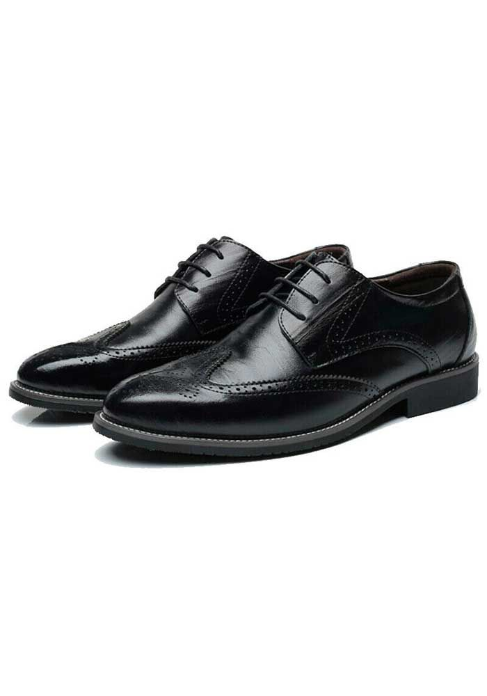 Mens Oxford Leather Formal Brogue Lace