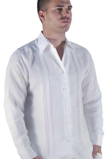 Guayabera Shirt. linen, long sleeve. High quality Linen.