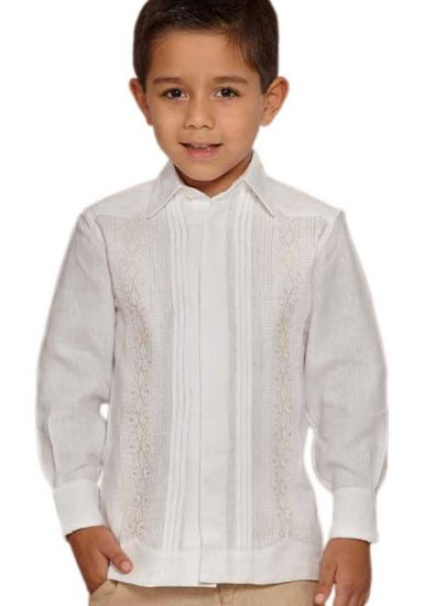 Finest Formal wedding Guayabera lace for KIDS.