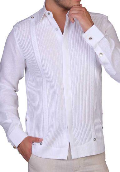 Fashion Design Shirt. Haute Couture. Pleats & Lace. Premium 100 %  Linen. Back Orders or Demand.