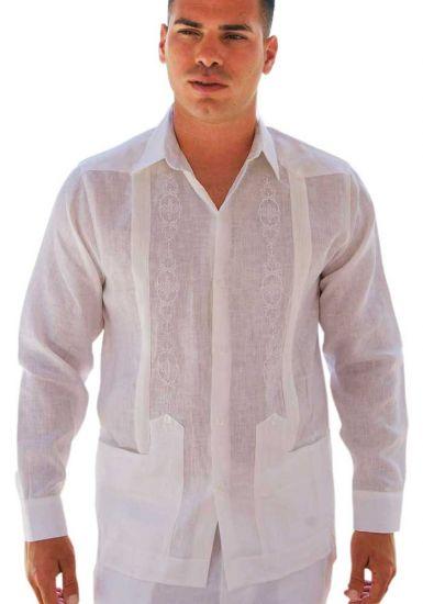 wedding Guayabera shirt. Pleats. D'accord.