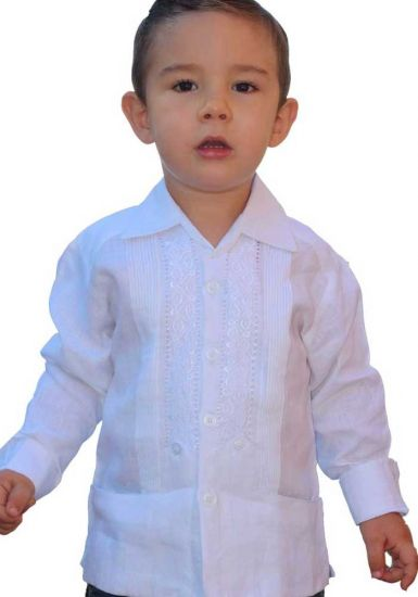 Guayaberas Long Sleeve for Kids. UNIQUE US! Linen 100 %. High Quality Embroidered. Back orders.