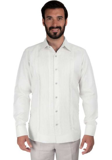 High Quality Shirt. Horizontal Pleats and Normal Pleats. Premium Irish Linen. Back orders or demand. White Color.