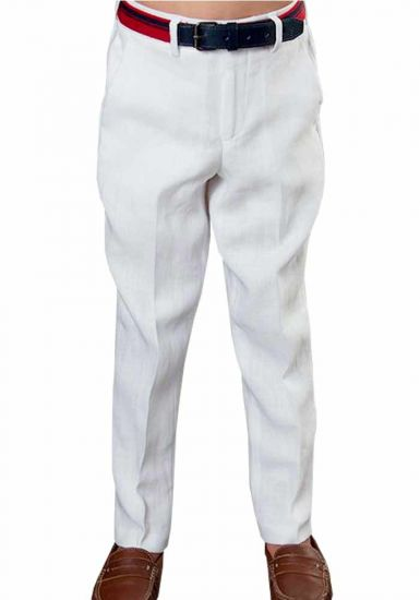 Classic Linen  Pants. Comfortable for Kids. Wedding Classis Pants for Kids. Any Age. Back Orders. Linen Premium. White Color.