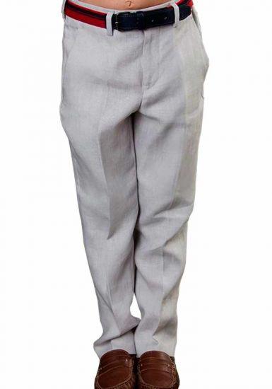 Classic Linen  Pants. Comfortable for Kids. Wedding Classic Pants for Kids. Any Age. Back Orders. Linen Premium. Gray Color.