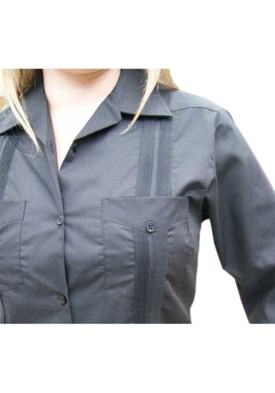 Wholesale Uniform Guayabera for Ladies. Long Sleeve. Any Color & Size. Back Orders or Demand.