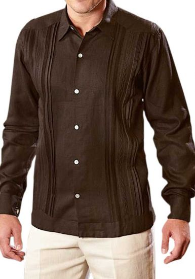 Exquite Brown Guayabera , Chocolate color