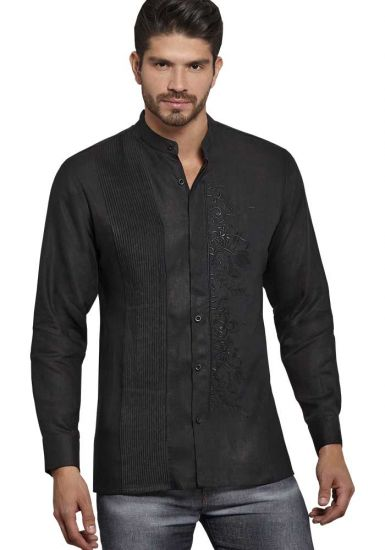 Chineese Guayabera Black