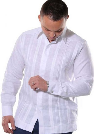 Formal linen guayabera for men