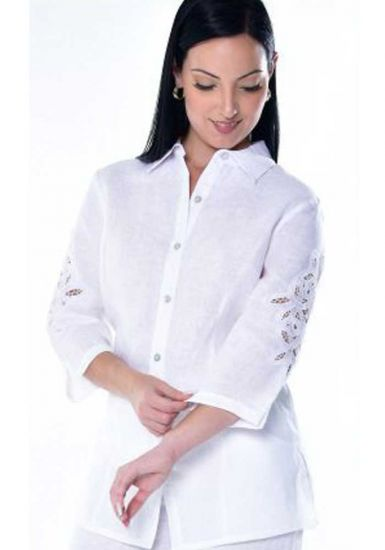 Richelieu Blouse. Perfect Fit. Feature Lace Sleeve Blouse . Beautiful Design. RUNS NORMAL. White Color.