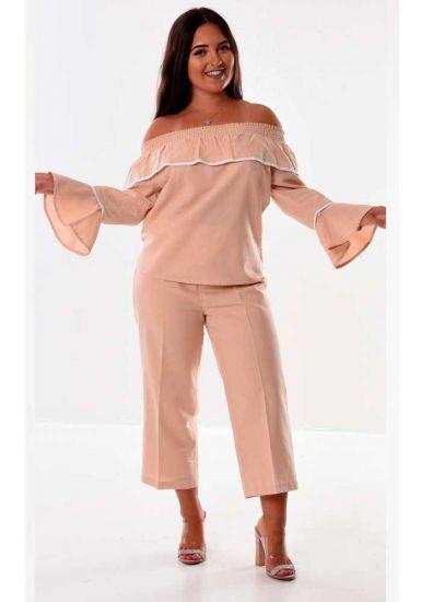 SET Off the shoulder Blouse & Pants For Ladies