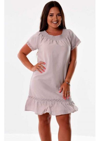 Latin Style Dress. Off the shoulder Dress. Cuban Style. Latin Parties. Pink Rose Color.