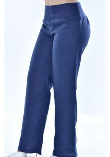 Pants for ladies adjustable waist with elastic. Beautiful fit. Navy Color.