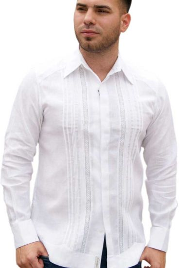 Exquisite Linen Shirt.  Men's Fitted Dress Shirt. A perfect elegant wedding shirt . Finest Tucks.