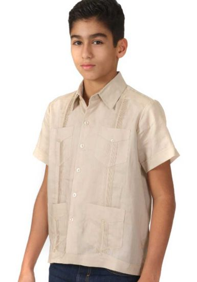 Junior Linen Guayabera