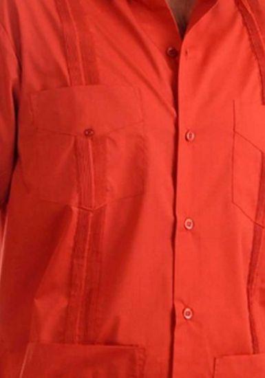 Uniform Guayabera Poly- Cotton Wholesale Short Sleeve for Ladies. Rust Color. Runs Small.