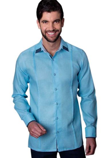 Casual Linen Shirt. Slim Fit. Long Sleeve. High Quality Shirt. Blue/Navy Color. Back Orders or Demand.