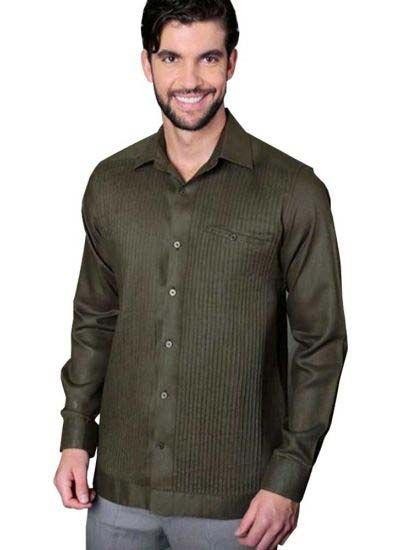 Deluxe Linen Shirt. High Quality. 100% Linen. Long Sleeves. Back Orders or Demand. Olivo Green Color.