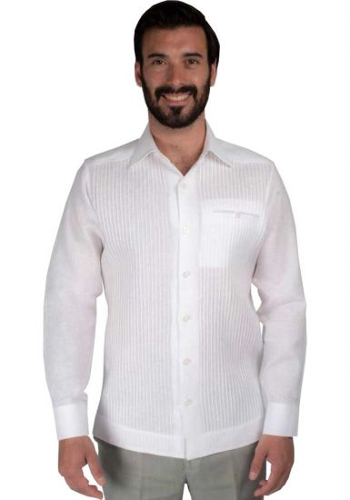 Deluxe Linen Shirt. High Quality. 100% Linen. Long Sleeves. White Color. Back Orders or Demand.