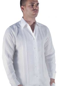 Guayabera Shirt. linen, long sleeve. High quality Linen.