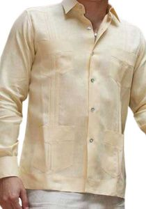 Premium Guayabera Slim Fit. Hight Quality. Premium Linen. Nacar Button. Beige Color. Back Orders or Demand.