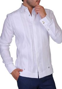 Wedding French Cuff Exquisite Linen Guayabera. Wedding. Back Orders or Demand.