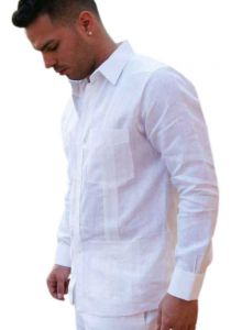 Guayabera French Cuff  for Men. Premium Linen by D'ACCORD.