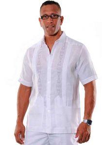 Formal linen guayabera for men