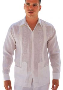 wedding Guayabera shirt. Pleats. D'accord.