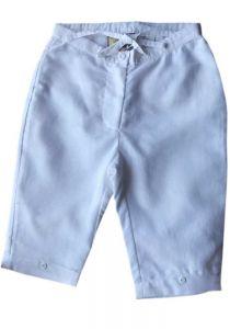 Drawstring Girls Linen Pants. Comfortable for Girls. Runs By Age. White.