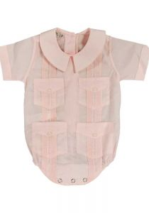 COTTON 100% Baby Guayabera. Romper for Infants. Button Closure in the Legs. ONLY BACK ORDERS !