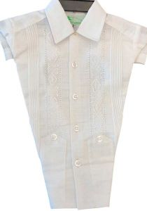 Short sleeve formal Guayabera wedding