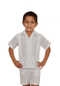 guayaberas set de short for kids