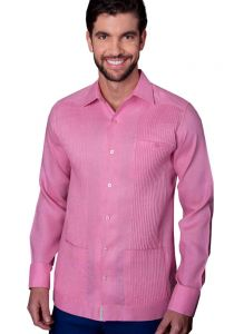 Deluxe Linen Shirt. High Quality. 100% Linen. Long Sleeves. 3 Pockets. Pink Color. Double Eyelet for use Cufflinks. Back Orders or Demand.