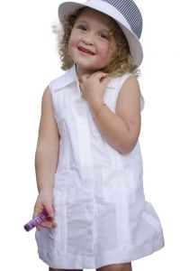 Guayabera white for kids