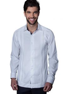 Exquisite Guayabera. Premium Linen Guayabera. French Cuff. White Color. Back Orders or Demand.