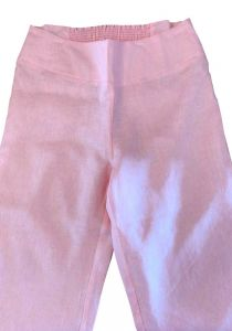 Pants for ladies adjustable waist with elastic. Beautiful fit. Pink Color.