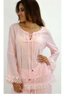 Beautiful party blouse. Long Sleeves. Pink Color.
