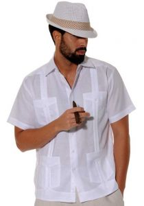 Traditional Cuban Guayabera Brown
