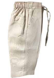 Drawstring Regular Linen Pants for Kids. Babies, Infant, Toddlers, Junior Kids. Beige Color.