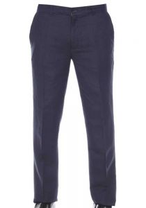 Flat Front Linen Look Pants. Wedding Dress Pants. Runs one Size Small. Navy Color.