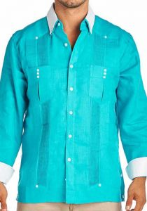 Fashion Party formal Guayabera Fench cuff