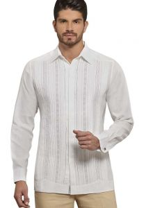 Formal Wedding Guayabera Shirt. Grooms. Men's Slim Fit Dress Shirt. Deluxe Linen 100 %. Back Orders or Demand.