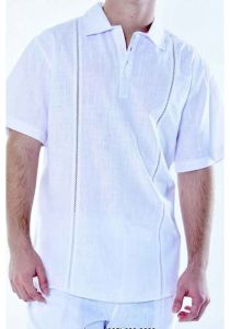 Shirt Cotton Gauze 100 %. Short Sleeves Shirt. Perfect for the Beach. White Color.