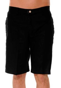 High Quality Linen Short for Men. Beach Short. Summer. Vacations. Black Color.