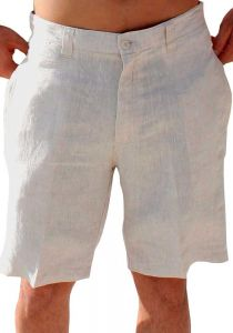 High Quality Linen Short for Men. Beach Short. Summer. Vacations. Natural Color.