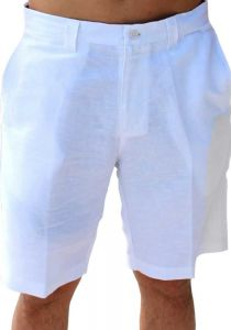 Linen Look Short for Men. White Color.