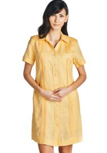 Ladies Guayabera Short sleeve Dress