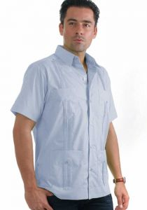 Guayabera Blue Light
